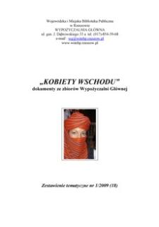 Kobiety Wschodu : dokumenty ze zbiorów Wypożyczalni Głównej