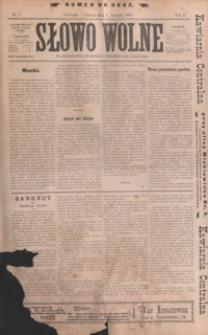 Słowo Wolne. 1898, R. 2, nr 1-3