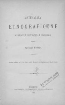 Materyjały etnograficzne z miasta Ropczyc i okolicy