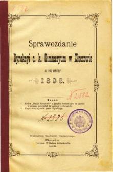 Sprawozdanie Dyrekcyi C. K. Gimnazyum w Złoczowie za rok szkolny 1895
