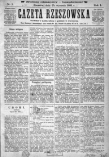 Gazeta Rzeszowska. 1891, R. 1, nr 1-49