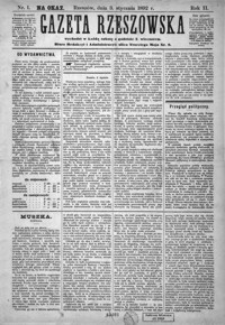Gazeta Rzeszowska. 1892, R. 2, nr 1-18