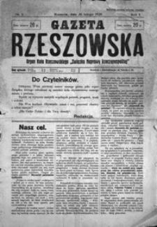 Gazeta Rzeszowska : organ Bezpartyjnego Bloku Współpracy z Rządem. 1928, R. 1, nr 1, 3-44