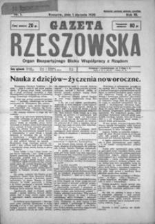 Gazeta Rzeszowska : organ Bezpartyjnego Bloku Współpracy z Rządem. 1930, R. 3, nr 1-52