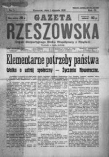 Gazeta Rzeszowska : organ Bezpartyjnego Bloku Współpracy z Rządem. 1931, R. 4, nr 1-52