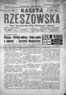 Gazeta Rzeszowska : organ Bezpartyjnego Bloku Współpracy z Rządem. 1933, R. 6, nr 1-45, 47-52