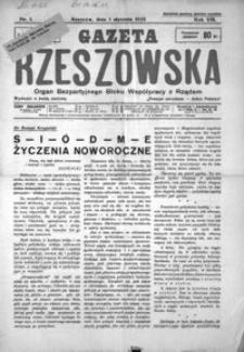 Gazeta Rzeszowska : organ Bezpartyjnego Bloku Współpracy z Rządem. 1935, R. 8, nr 1-23, 26-28, 30-45