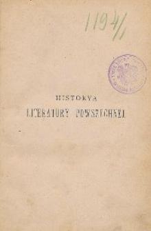 Historya literatury powszechnej T. 1