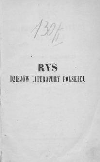 Rys dziejów literatury polskiej T.1
