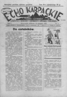 Echo Karpackie : tygodnik ilustrowany. 1926, R. 1, nr 1-5