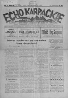 Echo Karpackie : tygodnik ilustrowany. 1929, R. 4, nr 1, 10, 13-16