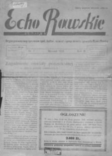 Echo Rawskie : organ poświęcony sprawom społecznym, kulturalno-oświatowym i gospodarczym miasta i powiatu Rawa Ruska. 1933, R. 1, nr 8 ; 1934, R. 2, nr 1
