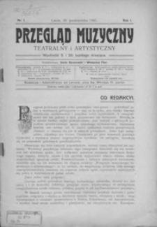 Przegląd Muzyczny, Teatralny i Artystyczny. 1905, R. 1, nr 1-5