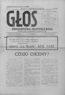 Głos Drohobycko-Borysławski : bezpartyjne czasopismo informacyjne. 1933, R. 8, nr 1-19, 21, 23