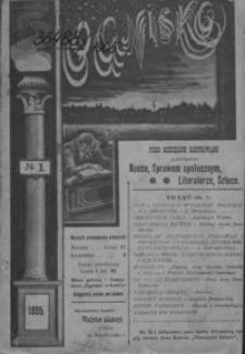 Ognisko : pismo miesięczne ilustrowane, poświęcone nauce, sprawom społecznym, literaturze, sztuce. 1905, nr 1