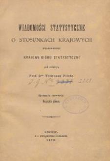 Wiadomości Statystyczne o Stosunkach Krajowych R. 5, z. 2