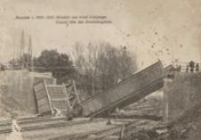 Rzeszów r. 1914-1915. Wiadukt nad torem kolejowym = Viadukt über das Eisenbahngeleise [Pocztówka]