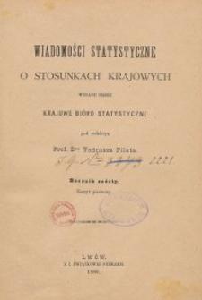 Wiadomości Statystyczne o Stosunkach Krajowych R. 6, z. 1-2