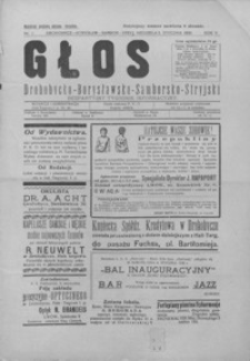 Głos Drohobycko-Borysławsko-Samborsko-Stryjski : bezpartyjny tygodnik informacyjny. 1930, R. 5, nr 1-24, 26, 28-31