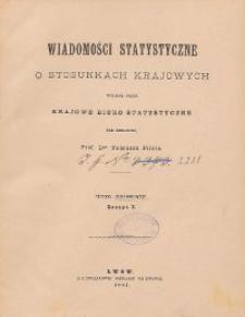 Wiadomości Statystyczne o Stosunkach Krajowych T. 10, z. 1