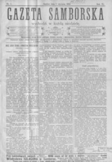 Gazeta Samborska. 1906, R. 6, nr 1-52