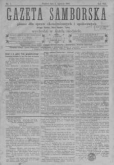 Gazeta Samborska : pismo dla spraw ekonomicznych i społecznych okręgu: Sambor, Stary Sambor, Turka. 1908, R. 8, nr 1-47, 49-52