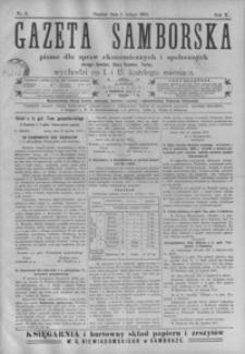 Gazeta Samborska : pismo dla spraw ekonomicznych i społecznych okręgu: Sambor, Stary Sambor, Turka. 1910, R. 10, nr 1-24