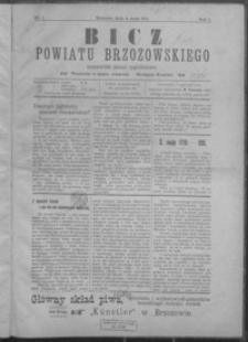 Bicz Powiatu Brzozowskiego : niezawisłe pismo tygodniowe. 1911, R. 1, nr 1-5