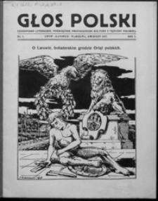 Głos Polski : czasopismo literackie, poświęcone propagandzie kultury i tężyzny polskiej. 1927, R. 1, nr 1-2, 6, 8-10