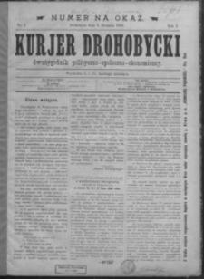 Kurjer Drohobycki : dwutygodnik polityczno-społeczno-ekonomiczny. 1889, R. 1, nr 1-9