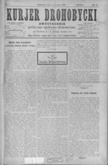 Kurjer Drohobycki : dwutygodnik polityczno-społeczno-ekonomiczny. 1900, R. 2, nr 1-2