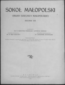 Sokół Małopolski : organ Dzielnicy Małopolskiej. 1938, R. 8, nr 1-3