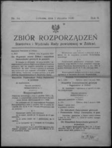 Zbiór Rozporządzeń Starostwa i Wydziału Rady Powiatowej w Żółkwi. 1930, R. 2, nr 14-26