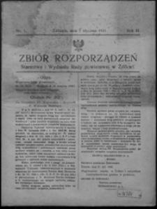 Zbiór Rozporządzeń Starostwa i Wydziału Rady Powiatowej w Żółkwi. 1931, R. 3, nr 1-14