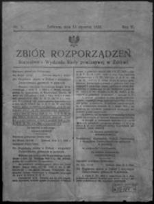 Zbiór Rozporządzeń Starostwa i Wydziału Rady Powiatowej w Żółkwi. 1933, R. 5, nr 1-9