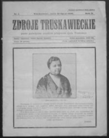 Zdroje Truskawieckie : pismo poświęcone wszelkim przejawom życia Truskawca. 1926, R. 2, nr 1-3