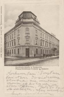 Dyrekcya skarbu w Rzeszowie = Finanz-Direktions-Gebäude in Rzeszów [Pocztówka]