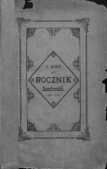 Rocznik Samborski : nowa serja illustrowana : wydawnictwo na cele dobroczynne samborskie. 1893-1894, R. 17
