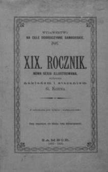 Rocznik Samborski : nowa serja illustrowana : wydawnictwo na cele dobroczynne samborskie. 1895-1896, R. 19
