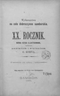 Rocznik Samborski : nowa serja illustrowana : wydawnictwo na cele dobroczynne samborskie. 1897, R. 20