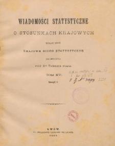 Wiadomości Statystyczne o Stosunkach Krajowych T. 15, z. 1-3