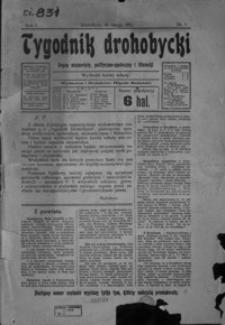 Tygodnik Drohobycki : organ niezawisły, polityczno-społeczny i literacki. 1912, R. 1, nr 1- 47