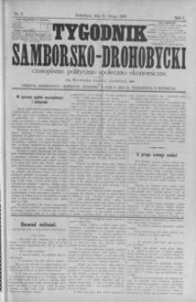 Tygodnik Samborsko-Drohobycki : czasopismo polityczno-społeczno-ekonomiczne. 1900, R. 1, nr 3-49