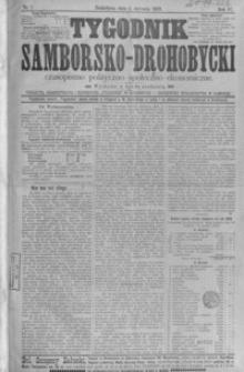 Tygodnik Samborsko-Drohobycki : czasopismo polityczno-społeczno-ekonomiczne. 1903, R. 4, nr 1-52