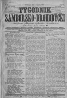 Tygodnik Samborsko-Drohobycki : czasopismo polityczno-społeczno-ekonomiczne. 1905, R. 6, nr 1-52