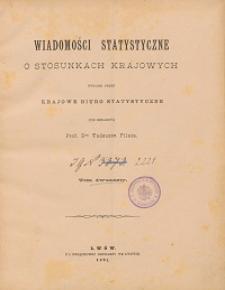 Wiadomości Statystyczne o Stosunkach Krajowych T. 12, z. 1-3
