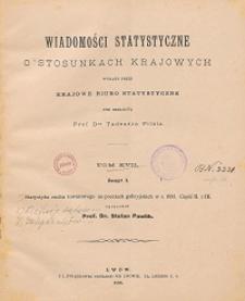 Wiadomości Statystyczne o Stosunkach Krajowych T. 17, z. 1-2