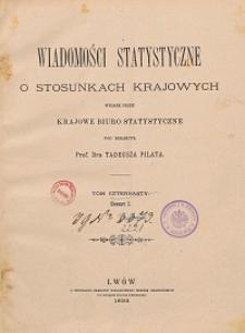 Wiadomości Statystyczne o Stosunkach Krajowych T. 14, z. 1-3