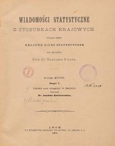 Wiadomości Statystyczne o Stosunkach Krajowych T. 18, z. 1-2