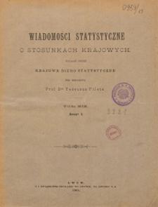Wiadomości Statystyczne o Stosunkach Krajowych T. 19, z. 1-2